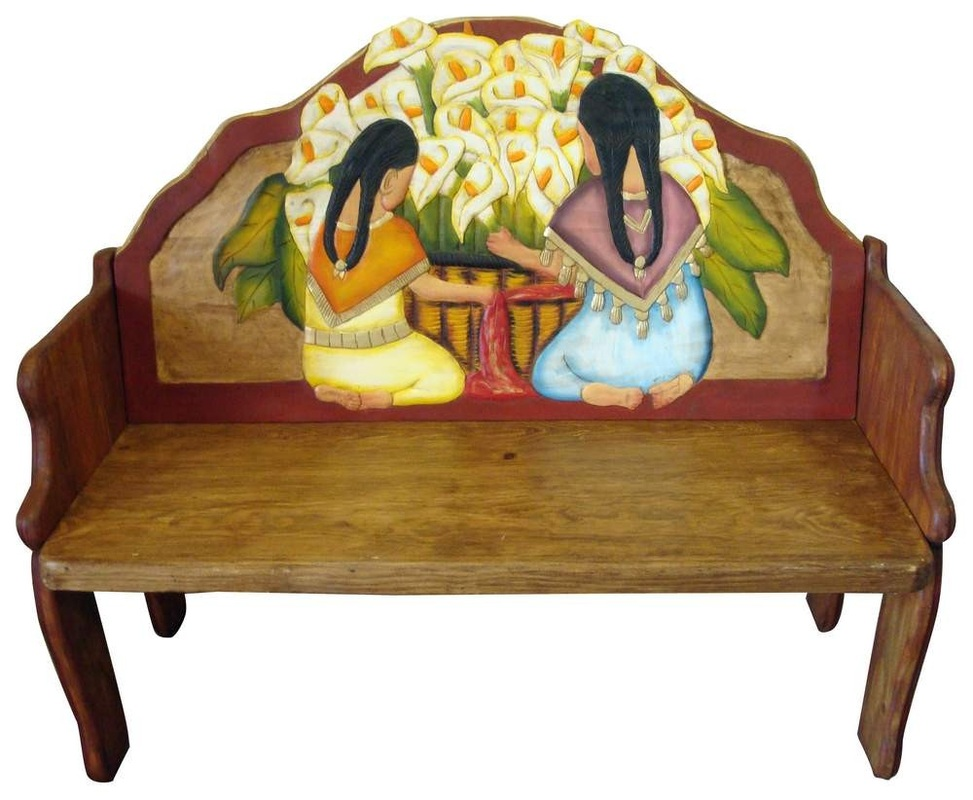 mexican painted furnitureRustic Mexican Furniture  Talavera  Mexican Furniture and Pottery