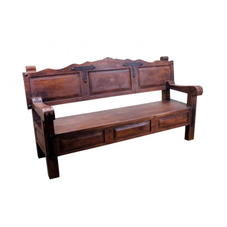 rustic benches outdoor